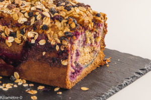 Photo de recette de gâteau du matin, muesli, cassis, facile, rapiide, cuisine healthy, bio  Kilomètre-0, blog de cuisine réalisée à partir de produits locaux et issus de circuits courts