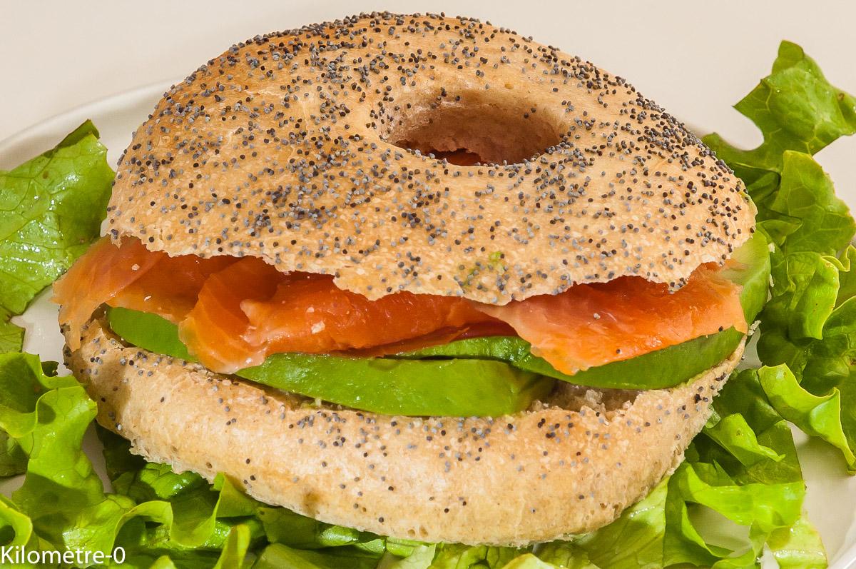 Photo de recette de bagel, facile, maison, rapide, léger de Kilomètre-0, blog de cuisine réalisée à partir de produits locaux et issus de circuits courts