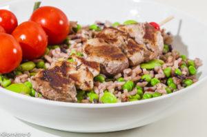 Photo de recette de brochettes de porc facile, herbes de Provence, marinées de  Kilomètre-0, blog de cuisine réalisée à partir de produits locaux et issus de circuits courts