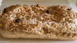 Photo de recette de pain, muesli, céréales, très rapide, facile, bio de Kilomètre-0, blog de cuisine réalisée à partir de produits locaux et issus de circuits courts