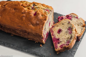 Photo de recette de gâteau du matin, framboises, menthe de Kilomètre-0, blog de cuisine réalisée à partir de produits locaux et issus de circuits courts
