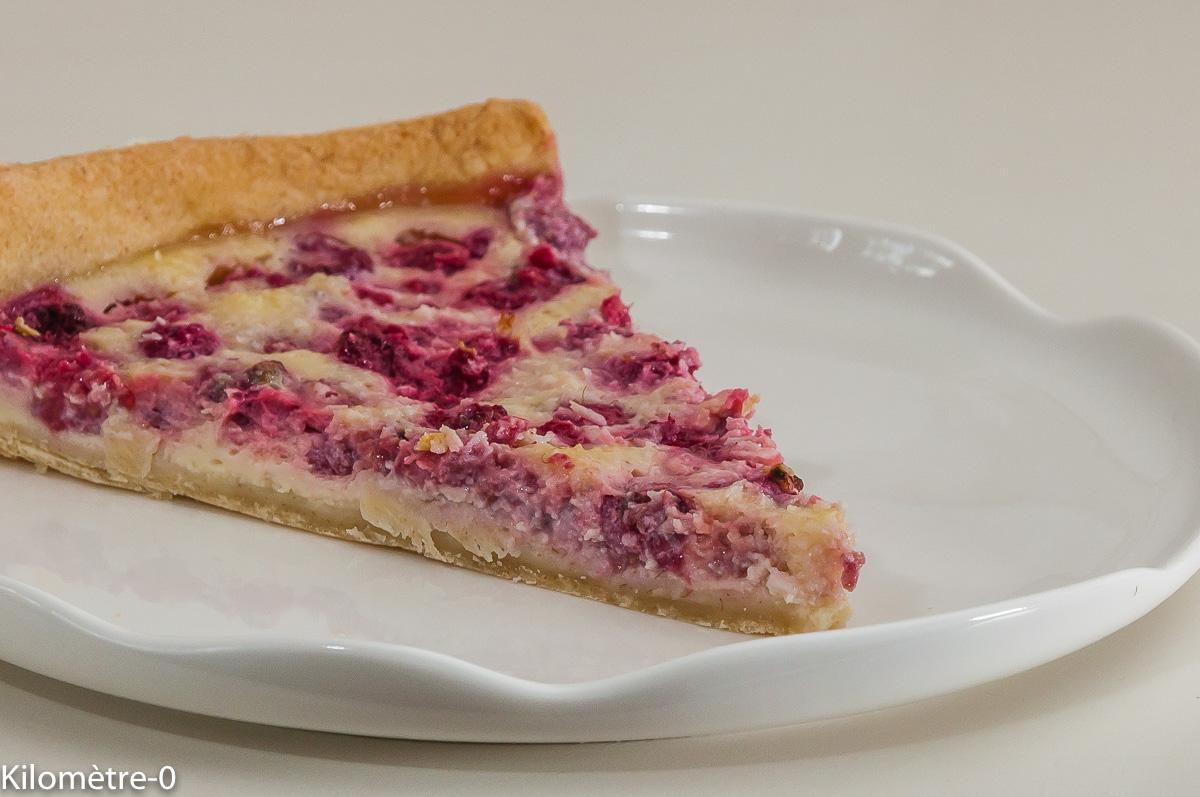 Photo de recette de quiche, tarte, framboises, facile, rapide de  Kilomètre-0, blog de cuisine réalisée à partir de produits locaux et issus de circuits courts