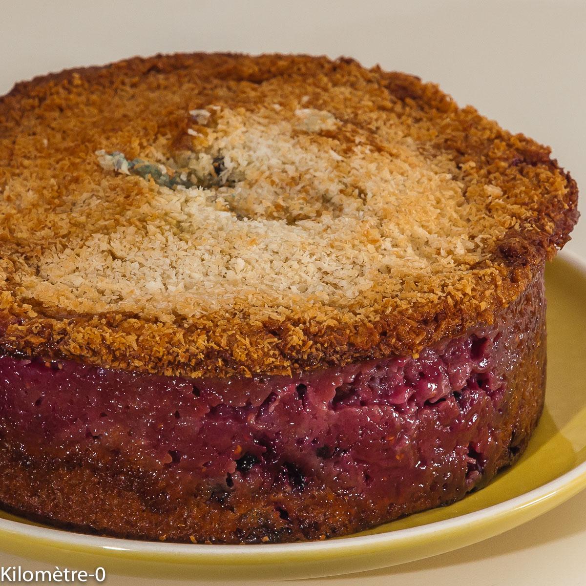 Photo de recette avec des blancs d'oeuf, facile, framboises, gâteau de Kilomètre-0, blog de cuisine réalisée à partir de produits locaux et issus de circuits courts