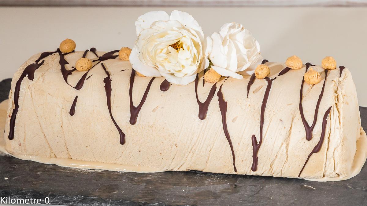 Photo de recette de semifreddo, glace au café,  de Kilomètre-0, blog de cuisine réalisée à partir de produits locaux et issus de circuits courts