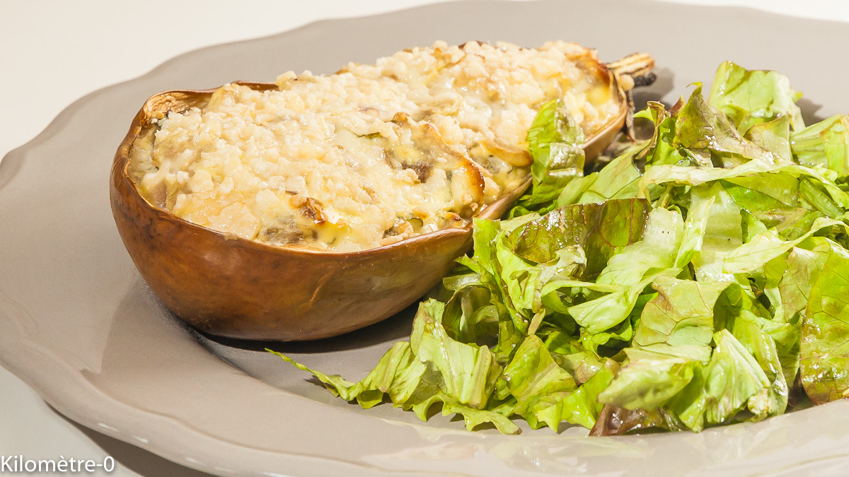 Photo de recette d'aubergines, farcies, ricotta, végétarien, healthy,  grana padano, facile, été,  Kilomètre-0, blog de cuisine réalisée à partir de produits locaux et issus de circuits courts