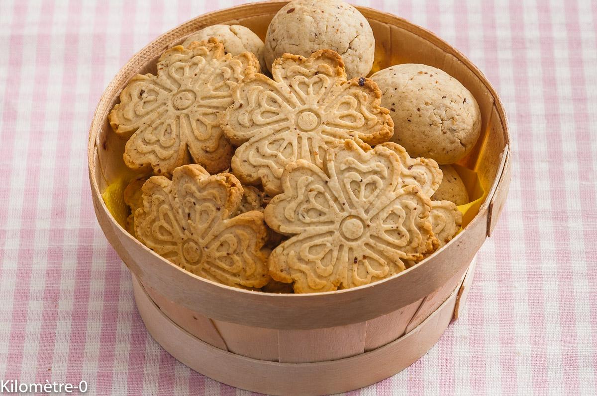 Photo de recette de sablés aux noisettes, facile, rapide, healty, biscuits, petits gâteaux de  de Kilomètre-0, blog de cuisine réalisée à partir de produits locaux et issus de circuits courts