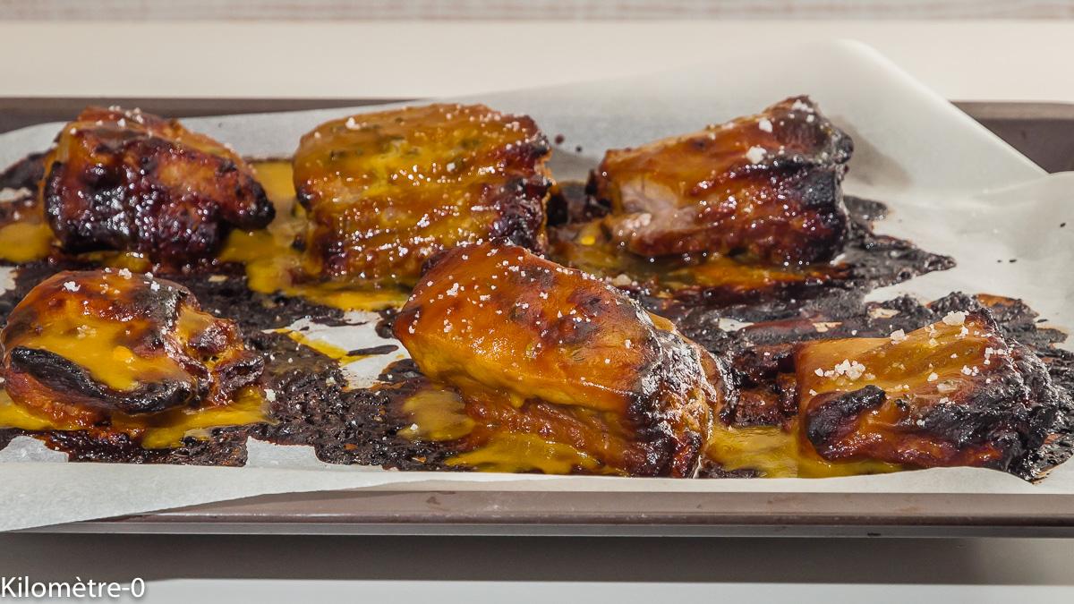 Photo de recette de travers de porc, spare ribs, miel, marinade, facile, grillades de Kilomètre-0, blog de cuisine réalisée à partir de produits locaux et issus de circuits courts