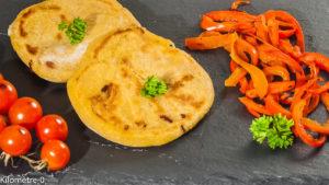 Photo de recette de  pupusas, galette de maïs, Salvador, Amériique centrale, recette salvatorienne, pain de