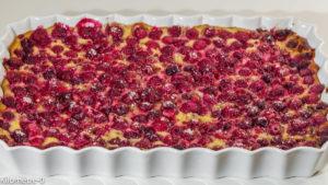 Photo de recette de flan, far, framboise,, fève tonka, facile, laitage, été, fruits rouges, rapide, dessert de  Kilomètre-0, blog de cuisine réalisée à partir de produits locaux et issus de circuits courts