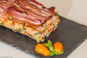 Photo de recette italienne de polpettone, terrine, légumes, jambon, facile, de Kilomètre-0, blog de cuisine réalisée à partir de produits locaux et issus de circuits courts