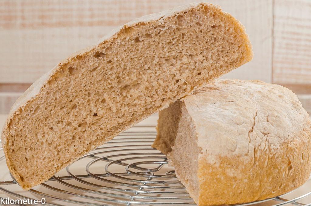 Photo de recette de pain maison, facile, bio de Kilomètre-0, blog de cuisine réalisée à partir de produits locaux et issus de circuits courts