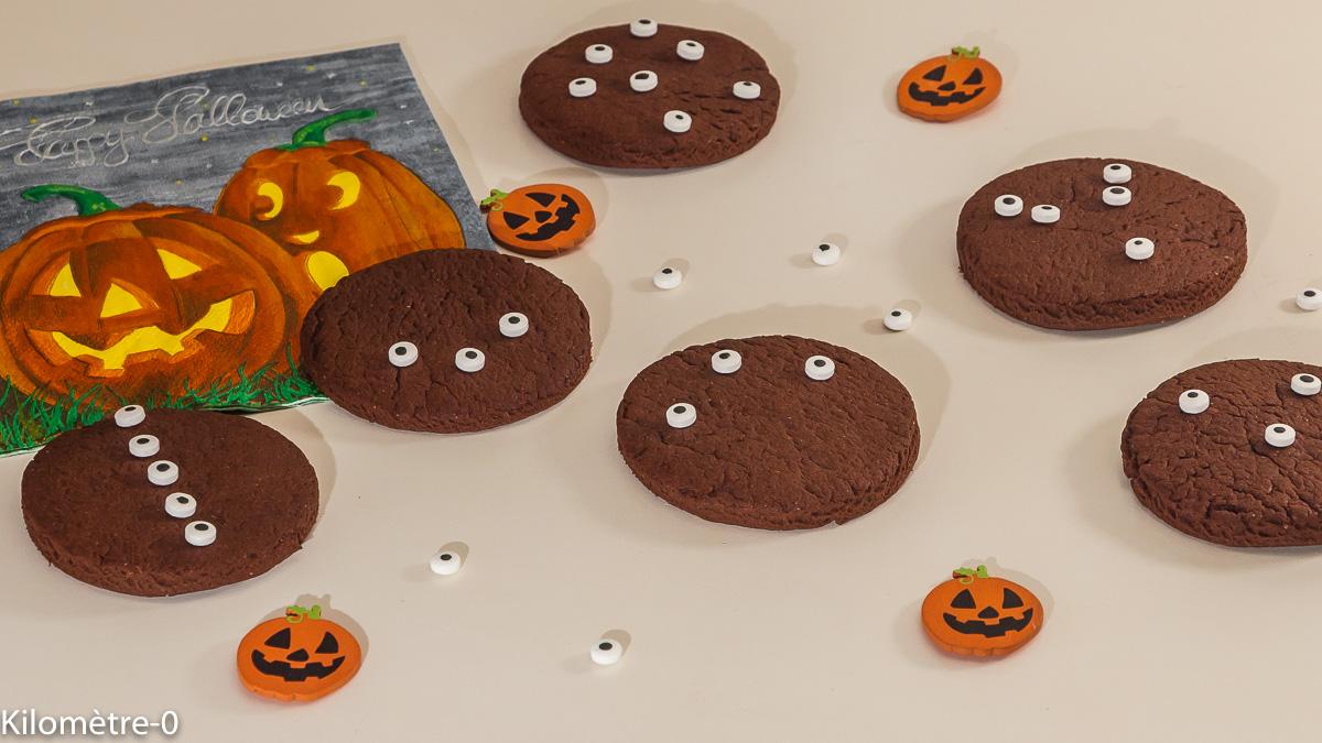 Photo de recette d'halloween, gâteaux, biscuits, facile, enfant, rapide, chocolat de  Kilomètre-0, blog de cuisine réalisée à partir de produits locaux et issus de circuits courts