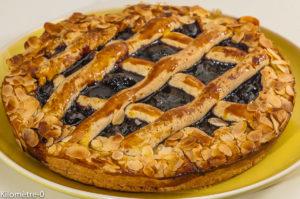 Photo de recette de tarte Linz, linzertorte, confiture, Haute Autriche, autrichienne, dessert, cerises, fruits de Kilomètre-0, blog de cuisine réalisée à partir de produits locaux et issus de circuits courts