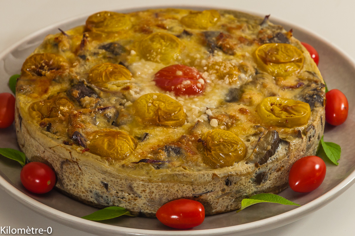 Photo de recette de frittata, omelettes, thon, aubergine, de  Kilomètre-0, blog de cuisine réalisée à partir de produits locaux et issus de circuits courts