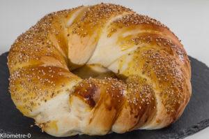Photo de recette d'açma, recette turque, Turquie , brioche, pain, graines de sésame, Kilomètre-0, blog de cuisine réalisée à partir de produits locaux et issus de circuits courts