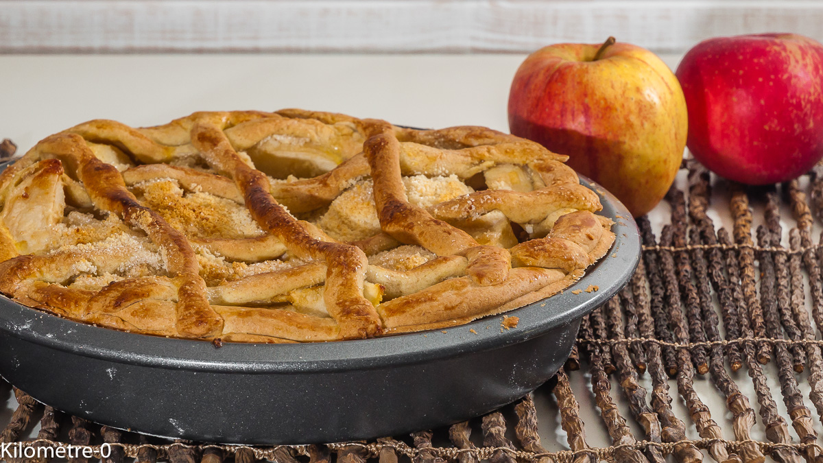 Photo de recette italienne, crostata, gâteau, pommes, citron, amandes de de Kilomètre-0, blog de cuisine réalisée à partir de produits locaux et issus de circuits courts