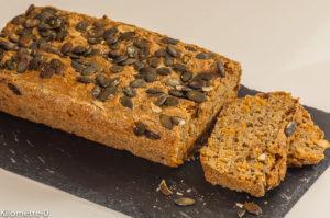 Photo de recette de pain, graines de courge, carottes , bio de Kilomètre-0, blog de cuisine réalisée à partir de produits locaux et issus de circuits courts