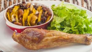 Photo de recette de poulet, automne, courge, butternut, cèpes, châtaignes, facile, Kilomètre-0, blog de cuisine réalisée à partir de produits locaux et issus de circuits courts