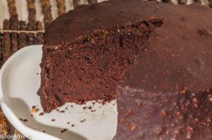 Photo de recette de gâteau facile, rapide, chocolat, noisettes de Kilomètre-0, blog de cuisine réalisée à partir de produits locaux et issus de circuits courts