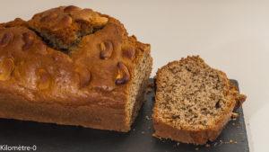 Photo de recette de  gâteau du matin, cake, noix, noix de cajou, facile, rapide de Kilomètre-0, blog de cuisine réalisée à partir de produits locaux et issus de circuits courts