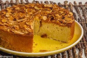 Photo de recette de gâteau aux amandes, facile, rapide, dessert,  Kilomètre-0, blog de cuisine réalisée à partir de produits locaux et issus de circuits courts