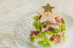 Photo de recette de sapin de Noël, facile, originale, apéro, jambon, léger, sandwich, buffet, pain de Kilomètre-0, blog de cuisine réalisée à partir de produits locaux et issus de circuits courts