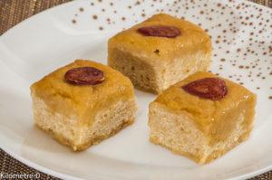 Photo de recette de basboosa, gâteau de semoule, Bahrein, basboosa, amandes, semoule, dessert, gâteau, bio, sirop de Kilomètre-0, blog de cuisine réalisée à partir de produits locaux et issus de circuits courts