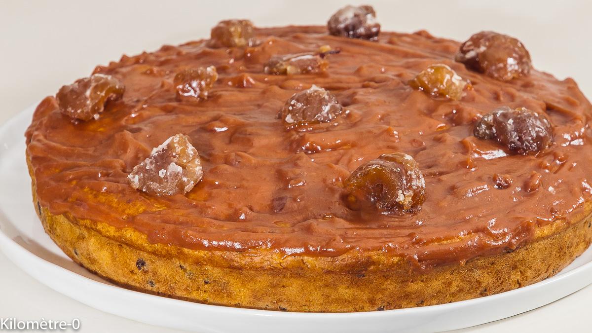 Photo de recette de gâteau moelleux, marrons, châtaignes, marrons glacés, courge, courge sucrine du Berry, pépites de chocolat, bio, facile, rapide, gâteau, Kilomètre-0, blog de cuisine réalisée à partir de produits locaux et issus de circuits courts