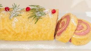 Photo de recette de bûche de Noël, framboises, mascarpone, citron, très facile, rapide, de Kilomètre-0, blog de cuisine réalisée à partir de produits locaux et issus de circuits courts