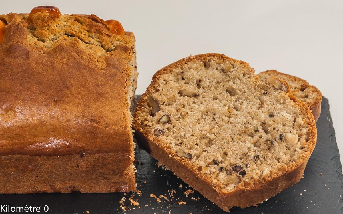 Photo de recette de gâteau du matin, cake, kumquats, noix de Kilomètre-0, blog de cuisine réalisée à partir de produits locaux et issus de circuits courts