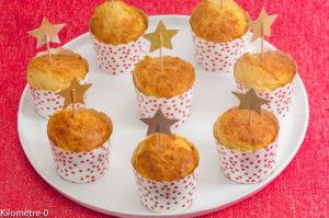 Photo de recette de muffins apéro, salé, parmesan, facile, rapide, économique, pas cher de Kilomètre-0, blog de cuisine réalisée à partir de produits locaux et issus de circuits courts