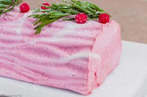Photo de recette de glace italienne, framboises, semifreddo, parfait, facile, bio, fruits rouges, Noël, dessert rapide, Kilomètre-0, blog de cuisine réalisée à partir de produits locaux et issus de circuits courts