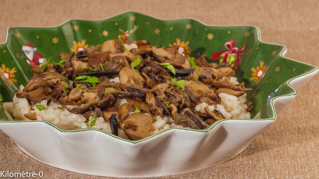 Photo de recette italienne, Italie de risotto aux cèpes et aux truffes, facile, rapide, champignons, riz, Noël, fêtes deKilomètre-0, blog de cuisine réalisée à partir de produits locaux et issus de circuits courts