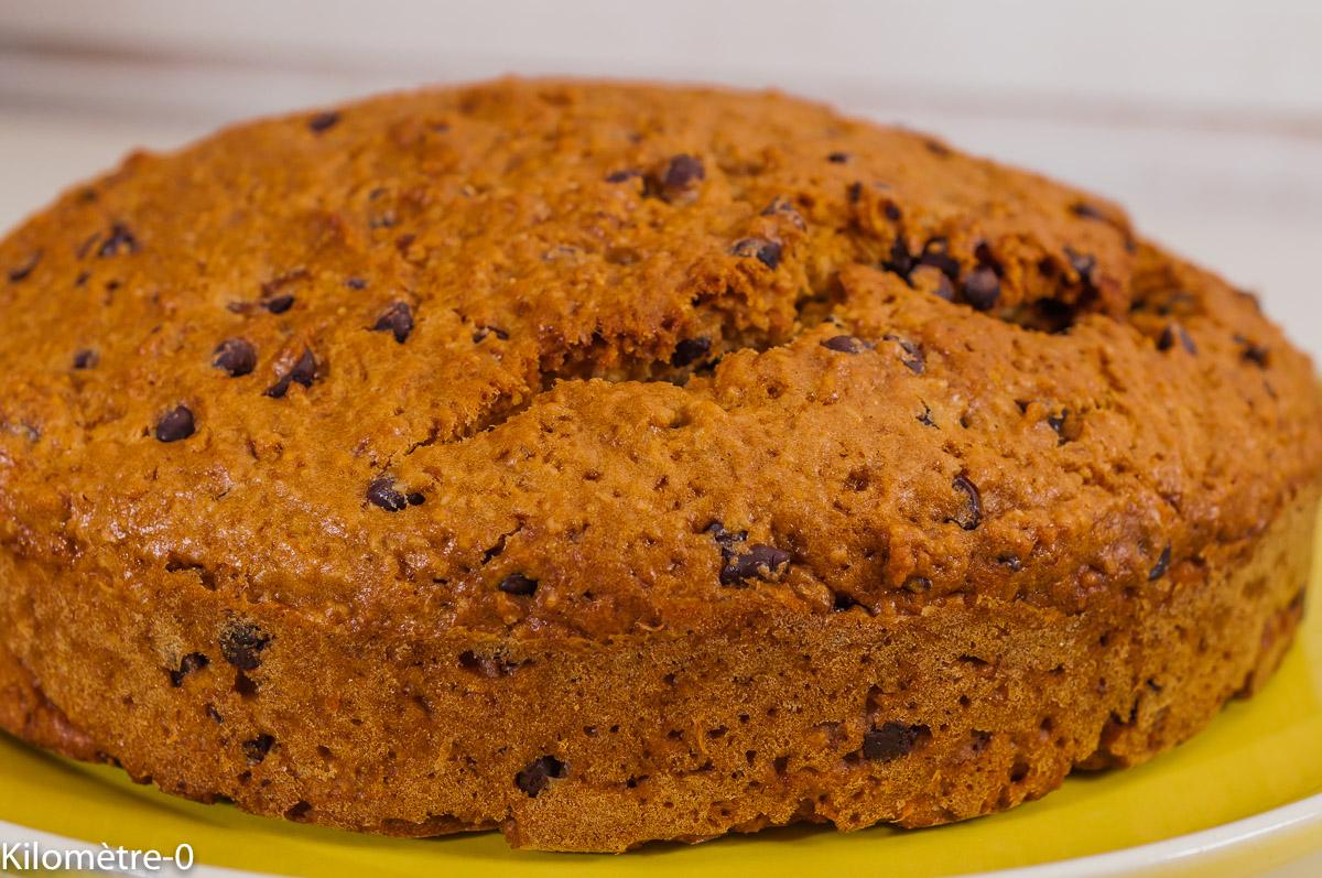 Photo de recette de gâteau du matin, yacon, poire de terre, facile, rapide, léger, cake, dessert, chocolat, bio, amandes de Kilomètre-0, blog de cuisine réalisée à partir de produits locaux et issus de circuits courts