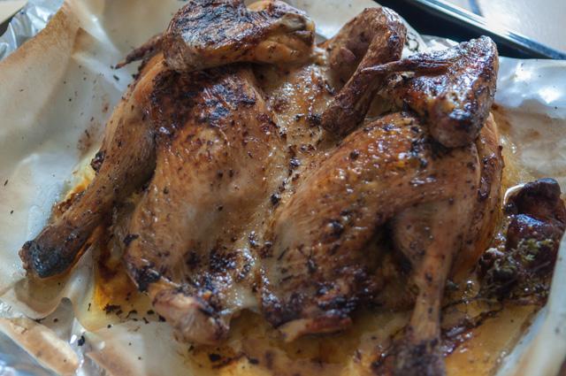 image de recette de poulet en crapaudine, facile, cuisson lente, cuisson douce, facile, léger, bio du blog Kilomètre-0