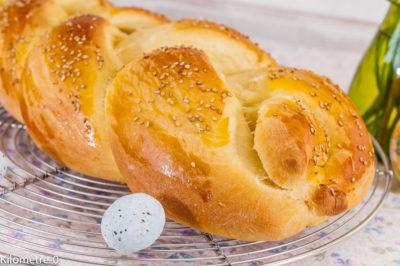 Photo de recette de Ttcheurek, brioche de Pâques arménienne, facile, healthy, légère, goûter, Arménie de Kilomètre-0, blog de cuisine réalisée à partir de produits de saison et issus de circuits courts