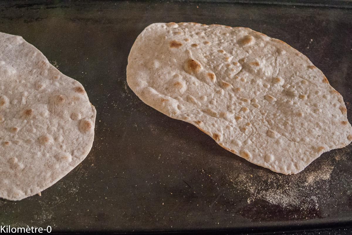 Photo de recette de chapati, facile, bio maison de Kilomètre-0, blog de cuisine réalisée à partir de produits de saison et issus de circuits courts