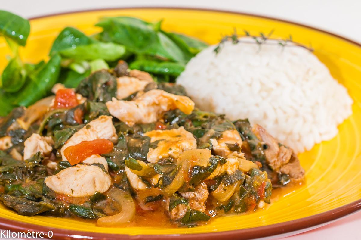 Image De Plat De Cuisine poulet palava, plat du ghana