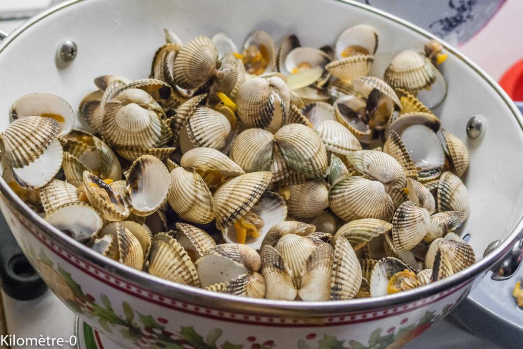 Photo de recette de comment préparer des coques de Kilomètre-0, blog de cuisine réalisée à partir de produits de saison et issus de circuits courts