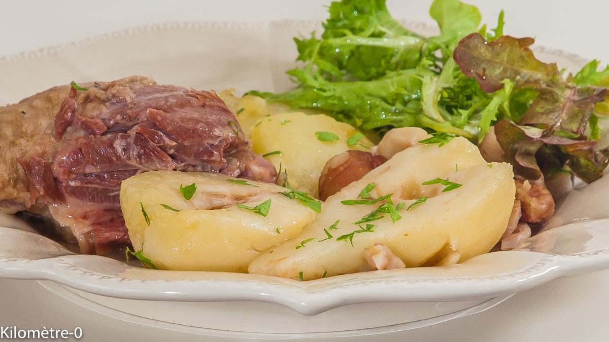 Photo d'oie, poires, marron, pommes de terre, facile, rapide,  recette de Kilomètre-0, blog de cuisine réalisée à partir de produits de saison et issus de circuits courts