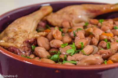 Photo de recette  facile de canard, haricots blancs, mijoté, facile, healthy, de de Kilomètre-0, blog de cuisine réalisée à partir de produits de saison et issus de circuits courts