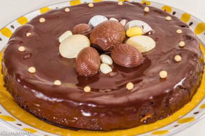 Photo de recette de fondant au chocolat, Pâques, coulant, moelleux, facile, rapide, léger,  Kilomètre-0, blog de cuisine réalisée à partir de produits de saison et issus de circuits courts