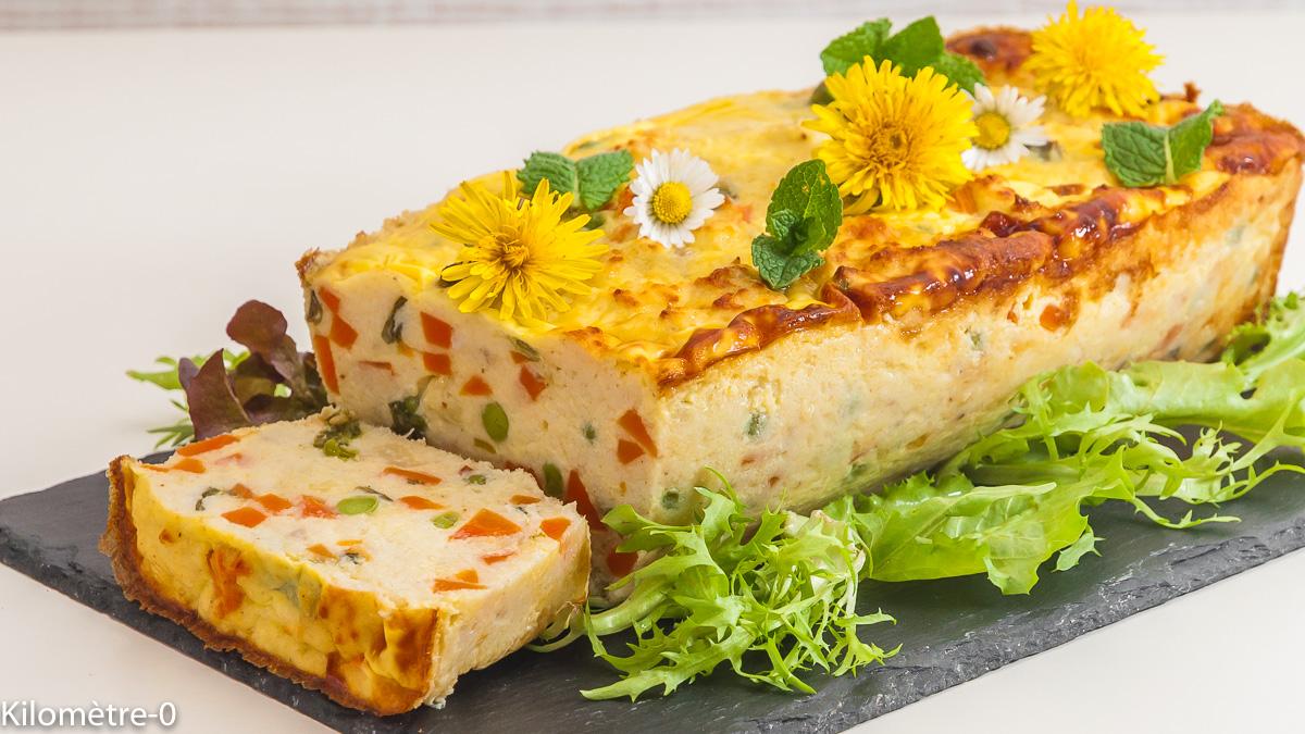 Photo de recette de terine facile de poisson, économique, merlu, rapide, légère, légumes, printemps,  Kilomètre-0, blog de cuisine réalisée à partir de produits de saison et issus de circuits courts