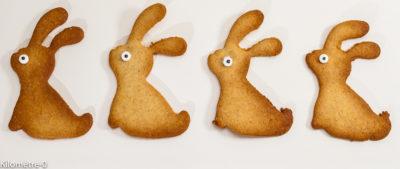 Photo de recette de petits lapins de Pâques, facile, gâteaux, biscuits, rapide, sablés, légers, faciles de  Kilomètre-0, blog de cuisine réalisée à partir de produits de saison et issus de circuits courts