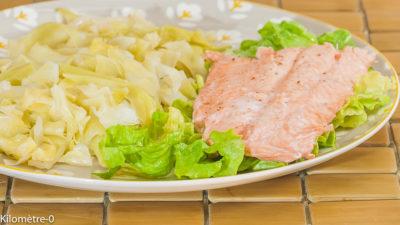 Photo de recette de chou pointu, bio, saumon, facile, rapide, four vapeur de  Kilomètre-0, blog de cuisine réalisée à partir de produits de saison et issus de circuits courts