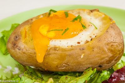 Photo de recette  facile, rapide, oeuf, pomme de terre, végétarienne, healthy, bio dede Kilomètre-0, blog de cuisine réalisée à partir de produits de saison et issus de circuits courts
