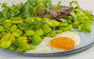 Photo de recette perse, iranienne, oeuf, fèves, curcuma, de  de Kilomètre-0, blog de cuisine réalisée à partir de produits de saison et issus de circuits courts