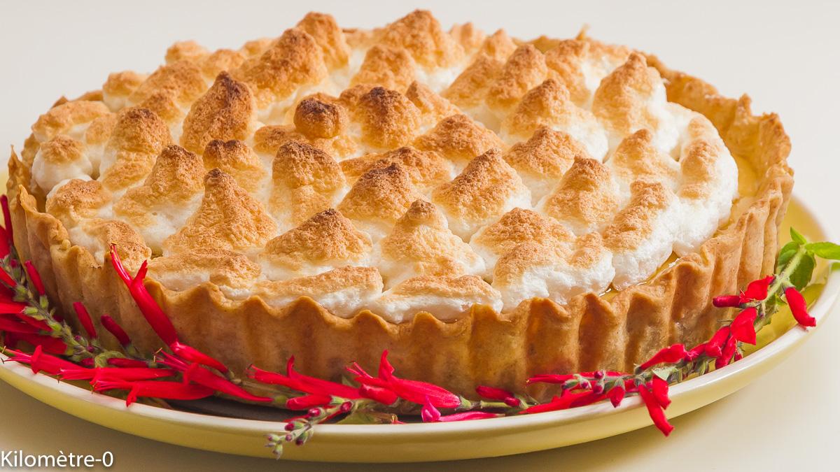 Photo de recette de tarte au citron meringué, dessert africain, Afrique, facile, citron, citron vert, Kilomètre-0, blog de cuisine réalisée à partir de produits de saison et issus de circuits courts