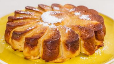Photo de recette facile, rapide, bio, gâteau invisible aux pommes, miel, healthy, dessert, de Kilomètre-0, blog de cuisine réalisée à partir de produits de saison et issus de circuits courts