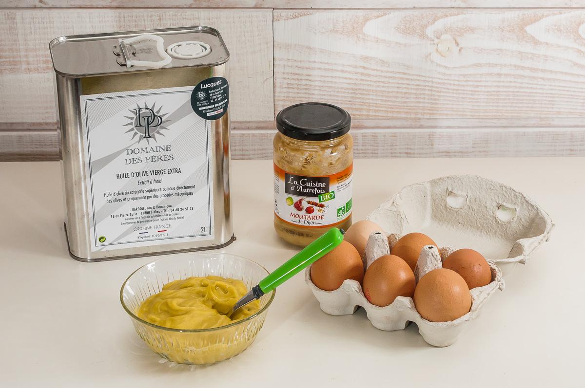 Photo de recette de mayonnaise maison facile de Kilomètre-0, blog de cuisine réalisée à partir de produits de saison et issus de circuits courts